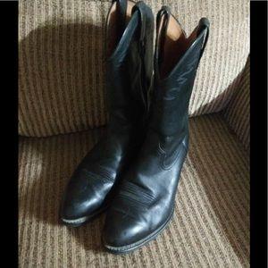 Ariat Black Leather Cowboy Boots Men